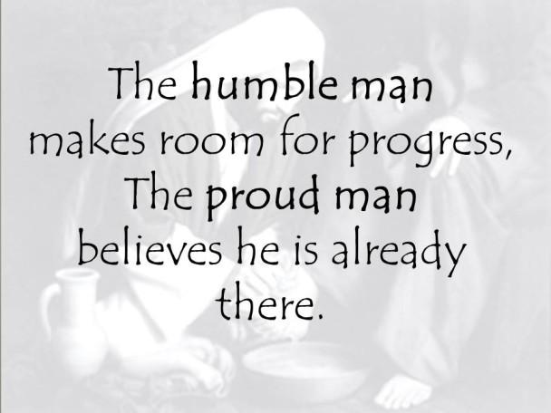 Humility vs pride
